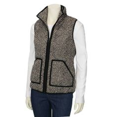 Knock off J Crew Herringbone Vest