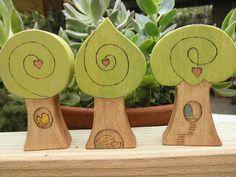 WOOD TREE No.1 ACCESSORY Whimsical -Bird-Hedgehog- Habitat Waldorf Inspired for Creative Play