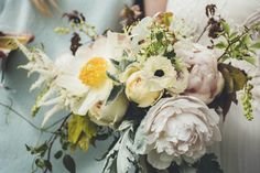 Organic Bouquet | Ross Talling Photography | Boho Wedding at The Green in Cornwall