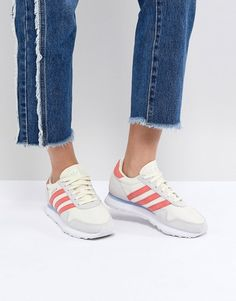 adidas Originals | adidas Originals Haven Trainers In Off White And Red
