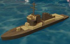 Destroyer Wooden Toy - Autodesk 3ds Max,STEP / IGES,SOLIDWORKS,AutoCAD,Parasolid - 3D CAD model - GrabCAD
