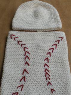 PDF PATTERN Crochet Baseball Cocoon and Cap Baby Boy. $4.50, via Etsy.