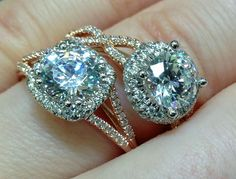 Detail: Rose gold and diamond engagement rings by Coast ...