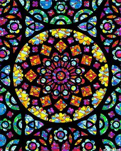 Illumination - Cathedral Stained Glass - Black