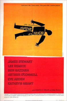 Anatomy of a Murder / Classic Film Poster / Movie Poster / Vintage / 60's / Jimmie Stewart / Otto Preminger / Motion Picture / Cinema )
