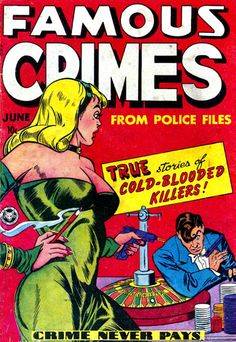 Famous Crimes #5 - Comic Book Cover Poster - Available Now: http://aimcollectibles.blogspot.com/2015/10/famous-crimes-5-comic-poster.html