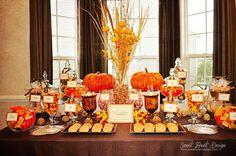 fall themed candy buffet