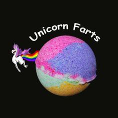 UNICORN FARTS BATH bomb, bath bomb, bathbomb, unicorn, rainbow, kids bath bomb, bath bomb fizzies, bath bomb for kids, bath fizzy, soap by SnazzieBombs on Etsy