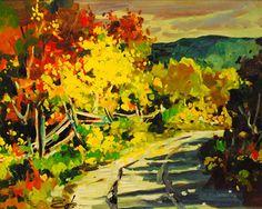 Bruno Cote - Autumn Scene Oil on Masonite x Bayeux Tapestry, Art Toronto, Autumn Scenes, Bruno, Canadian Artists, Past, Halley's Comet, Fine Art, Gallery