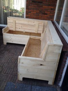 44 ideas pallet furniture diy storage decks for Pallet Garden Furniture, Outdoor Furniture Plans, Furniture Projects, Diy Furniture, Furniture Storage, Rustic Furniture, Woodworking For Kids, Woodworking Furniture, Woodworking Plans