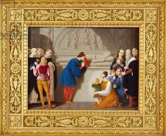 Ludovico Sforza, known as 'il Moro' at the Tomb of Beatrice d'Este by Giambattista Gigola, watercolor on ivory, 1815 History Images, Art History, Watercolor, Illustration, Ivory, Painting, House, Figurative, Pen And Wash