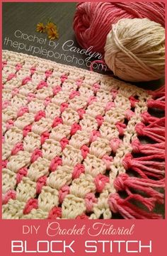 DIY Crochet Tutorial – Learn How To Make The Block Stitch – The Purple Poncho