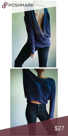 Beautiful Backless Beautiful Shirt. No tags but never actually worn out and about. Great Condition! Express Tops Blouses