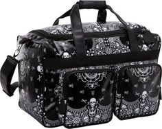Loungefly Skull Bandana Print Luggage Blk/Wht - via eBags.com! NEEDNEEDNEED