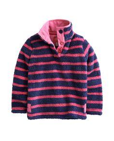 "#Joules ""Merridie"" - € 32,70 - Wikimo Kindermode, Kinder Fleecepullover, blau pink gestreift by Tom Joule   wikimo.eu"