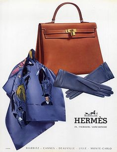 Hermès (Handbags) 1957 Modèle Kelly Handbag Scarf Gloves  hprints.com