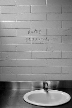 you're beautiful - who needs a mirror?
