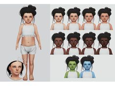 This beautiful skin is by Chisami. I just edited it to be more child friendly and converted it for toddler and child! It's perfect with any skin color! Found in TSR Category 'Sims 4 Skintones' Toddler Cc Sims 4, Sims 4 Toddler Clothes, Sims 4 Cc Kids Clothing, Toddler Outfits, Sims 4 Cas, Sims Cc, The Sims 4 Bebes, Sims 4 Cc Folder, The Sims 4 Skin