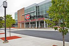 St. Cloud State University - Herb Brooks National Hockey Center- our Jack will get his Master's degree conferred there May 11, 2014