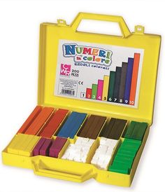 Counting rods allow children to explore mathematical concepts in a effective visual and entertaining way. Children can associate the numeric value with the colour of the rod to calculate numbers. Packed in a case containing 200 plastic rods, assorted by length and colour. Age 3+ great for key Stage 1.