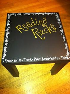 I like the idea of refinishing an old table with chalkboard paint and putting in my classroom.