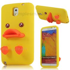 3D Cute Duck Soft Silicone Back Case Cover for Samsung Galaxy Note 2 II 3 III S4 in Cell Phones & Accessories | eBay