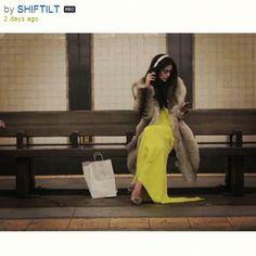 yellow gown, coat.