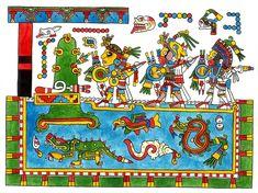 Lámina del Códice Nuttall - Códices prehispánicos de Mesoamérica - Wikipedia, la enciclopedia libre