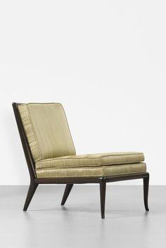T.H. Robsjohn-Gibbings; Lacquered Mahogany Lounge Chair for Widdicomb, c1955.