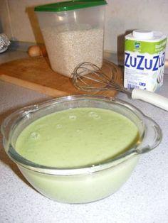 Supa crema de broccoli | Dieta Dukan Supe, Pudding, Desserts, Food, Dukan Diet, Cream, Tailgate Desserts, Deserts, Custard Pudding