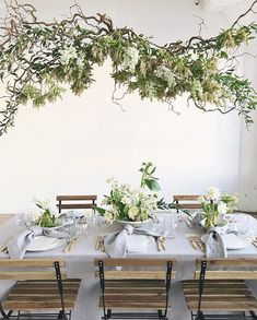 Head over heels for hanging floral chandeliers and from ? Can't wait to see more! Photo by Wedding Arrangements, Table Arrangements, Table Centerpieces, Floral Arrangements, Ceremony Decorations, Flower Decorations, Table Decorations, Hanging Flowers, Table Flowers