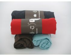 A fitted crib sheet available in four vibrant fun colors: light blue, grey, red and brown.  Made from 100% egyptian cotton. The sheets are super soft and match all of our Mezoome pattern products.  Size: 12x60x120 cm   Fits standard crib mattress