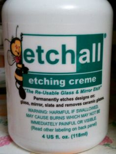 """The best for etching glass!!!"" This is different from what I have. I'll have to check it out."