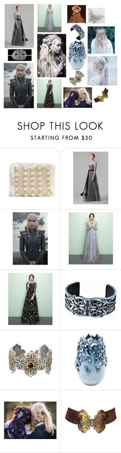 """""""butterflies, braids and celtic knots"""" by courtenay-militaryveteran ❤ liked on Polyvore featuring Shrimps, Amanda Wakeley, KARE and Yves Saint Laurent"""