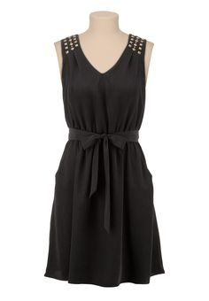 3a4d9149 V-Neck Stud Shoulder Tank Dress - maurices.com Edgy Chic, Sweet Style
