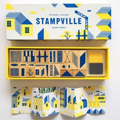 STAMPVILLE stamp set for budding architects