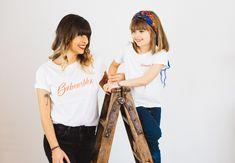 """Cute Duo 💕  NoS Teeshirts """"Baboushka"""" vous sublimeront avec sa coupe loose et sa jolie matière, douce et très agréable à porter.  #duomerefille#love"""