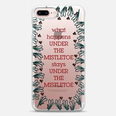 Casetify iPhone 7 Snap Case - UNDER THE MISTLETOE by austeja platukyte #Casetify #casetifycase #iphone7plus #iphonecases #iphonecase #phonecase #phonecases #case #summer #iphone7 #caseiphone #trendy #casetrendy #casetifyartist #freeshipping #product #techaccessories #blogger #fashion #fashionblogger #fashionblog #christmas #holidays #mistletoe #typography #quotes #words #love #winter #floral #green #kiss