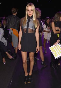 Chloe Sevigny at the Vera Wang Collection  show during NYFW