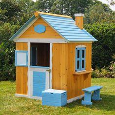 Kinderspielhaus Gartenhaus Spielhaus für Kinder aus Holz, Kinderhaus | eBay