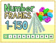 """Count by tens using this ring of number frames. Only learning to count to 50? Place 5 number frames on the ring. Counting to 150? Place them all on the ring. Print, trim, laminate and hole punch for a portable """"hundreds chart"""" that can be used during morning routines, math centers and independent work periods."""