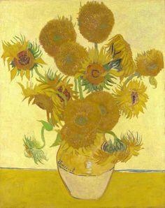 "https://www.facebook.com/VincentvanGogh.MiaFeigelson.Gallery ""Sunflowers in a vase"" (Arles. August 1888) [F 454] [IV - Initial version, August 1888] By Vincent van Gogh, from Zundert, Netherlands (1853 - 1890) - oil on canvas; 92.1 x 73 cm - [Post-Impressionism] Place of creation: Arles, France © The National Gallery, London, UK Bought, Courtauld Fund, 1924 http://www.nationalgallery.org.uk/"