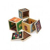 Green Lullaby - Blocs de rangement ABC en carton - My Little Square