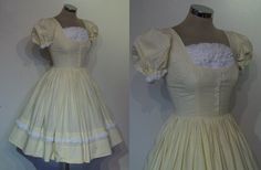 Super sweet 1950s yellow gingham full skirted by ukcharmvintage