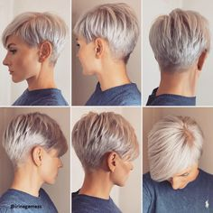 Platinum Blonde Short Hair New Hairstyles - Hairstyles Style Haa Platin Blondes kurzes Haar Neue Frisuren – Frisuren Stil Haar Platinum blonde short hair – hairstyles style hair - Super Short Hair, Short Grey Hair, Short Hair Styles, Long Hair, Short Pixie Haircuts, Short Hairstyles For Women, Cut Hairstyles, Short Hair Cuts For Women Pixie, Latest Short Haircuts