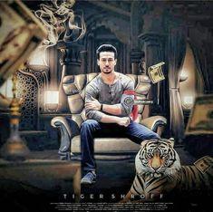 Tiger Shroff pics with tiger Bollywood Posters, Bollywood Actors, Bollywood Celebrities, Tiger Shroff Body, All About Tigers, Allu Arjun Images, Disha Patni, Indian Groom Wear, Tiger Love