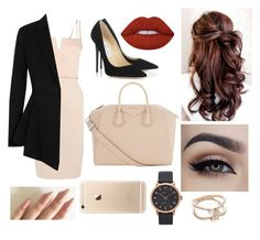 """""""Classy Nude & Black (New York Style)"""" by weirdobby on Polyvore featuring moda, Lipsy, Jimmy Choo, Givenchy, Lime Crime, Marc Jacobs e Luna Skye"""