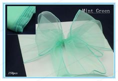150 Mint Green New Wedding Party Banquet Chair Organza Sash/chair Sashes--By Fedex Or DHL Free Shiping, $75.4 | DHgate.com