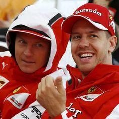 Kimi Räikkönen and Sebastian Vettel