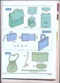 simple sewing patterns for bags - vma. Sewing Hacks, Sewing Tutorials, Sewing Projects, Diy Accessoires, Techniques Couture, Easy Sewing Patterns, Craft Bags, Leather Pattern, Leather Projects